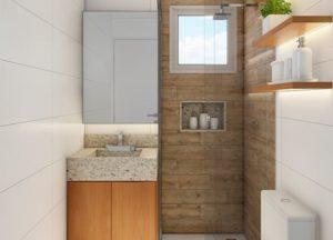 Apartamento tipo 1 - Banheiro
