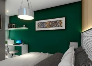 Apartamento tipo 1 - Dormitório 1
