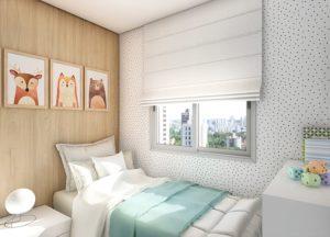 Apartamento tipo 1 - Dormitório 2