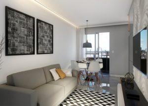 Apartamento tipo 1 - Sala de Estar