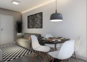 Apartamento tipo 1 - Sala de Estar e Jantar
