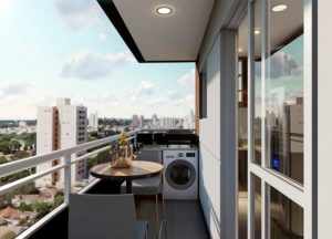 Apartamento tipo 1 - Terraço