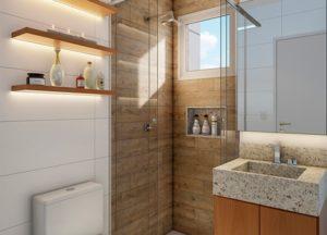Apartamento tipo 2 - Banheiro