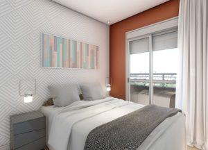 Apartamento tipo 2 - Dormitório 1