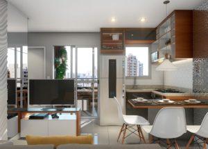 Apartamento tipo 2 - Sala de Estar