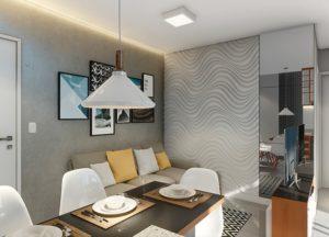 Apartamento tipo 2 - Sala de Jantar