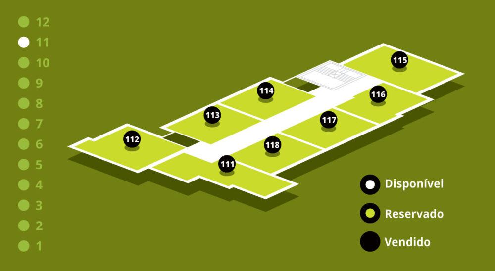 Mapa de Vendas - Andar 11