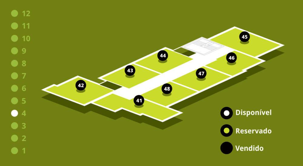 Mapa de Vendas - Andar 4
